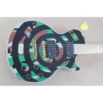 Custom Shop Zakk Wylde Camo LP Military Electric Guitar