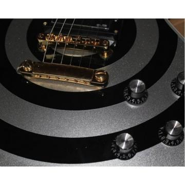 Custom Silver Zakk Wylde Bullseyes Electric Guitar