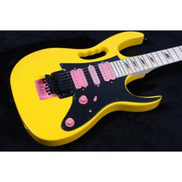 Custom Shop Yellow Ibanez Pink Pickups Electric Guitar