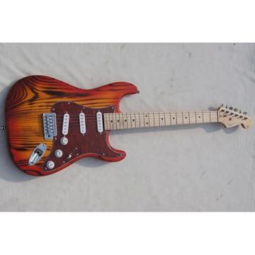 Custom Shop White Ash Wood Body Orford Cedar Strat Cherry Burst Electric Guitar