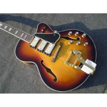 Custom Shop Venetian Cutaway Tobacco Electric Guitar With Bigsby Tremolo