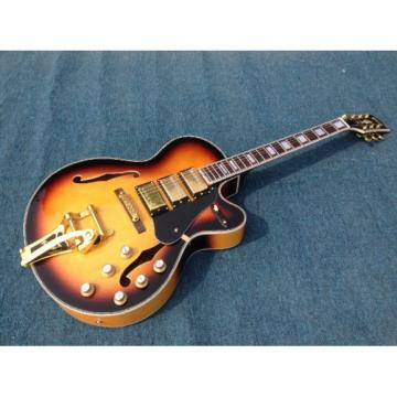 Custom Shop Tobacco Electric Guitar With Bigsby Tremolo Master Switch 3 Pickups