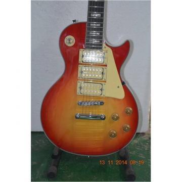 Custom Shop Sunburst Tiger Maple Top LP 3 Pickups Electric Guitar