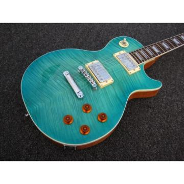 Custom Shop Teal Maple Top Standard 6 String Electric Guitar