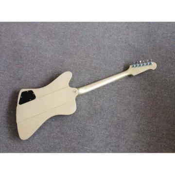 Custom Shop Sparkle Firebird P90 2 Pickups Silver Mist Poly Color Electric Guitar