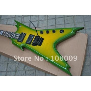 Custom Shop Strange Yellow Green Dean Electric Guitar