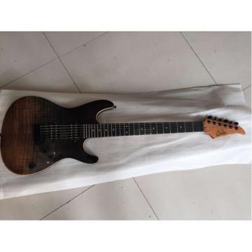 Custom Shop Suhr Brown Black Maple Top Electric Guitar