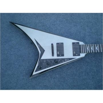 Custom Shop Silver Flying V Electric Guitar