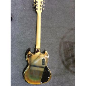 Custom Shop SG Relic LED Light Fretboard Electric Guitar Left Handed
