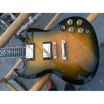 Custom Shop SG G400 Yellow Quilted Maple Electric Guitar