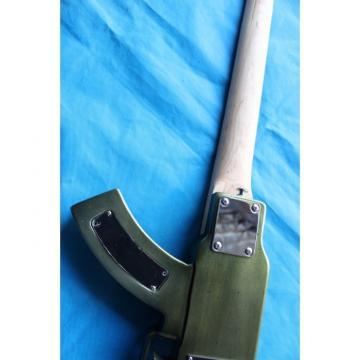 Custom Shop Rifle Machine Gun BC Rich Black 6 String Electric Guitar