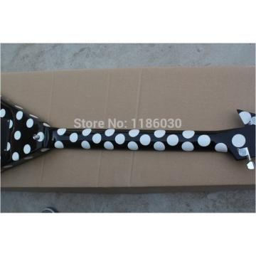 Custom Shop RR Polka Dots Flying V Electric Guitar