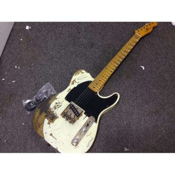 Custom Shop Relic White Old Aged Telecaster Electric Guitar