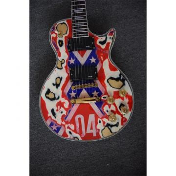 Custom Shop Relic Gore Rebel Confederate Flag Electric  Guitar