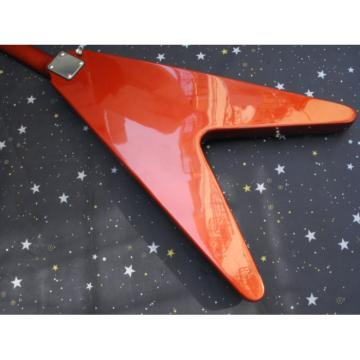 Custom Shop Red LP Flying V Electric Guitar