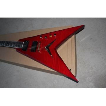 Custom Shop Red Flying V VMNT1 Dean Electric Guitar
