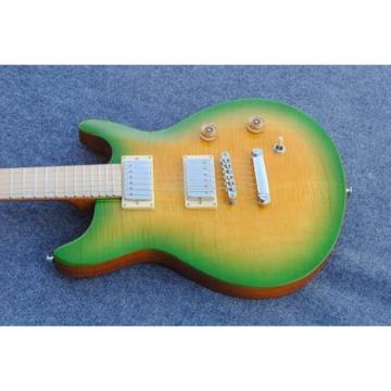 Custom Shop PRS Tiger Yellow Green Maple Top Electric Guitar