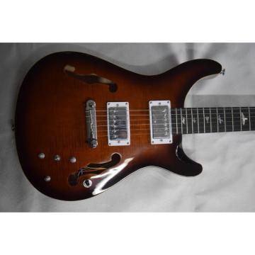Custom Shop PRS SE Fhole Brown Flame Maple Top Electric Guitar