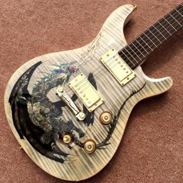 Custom Shop PRS Dragon Cream Tiger Maple Top Electric Guitar