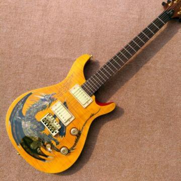 Custom Shop PRS Dragon Yellow Tiger Maple Top Electric Guitar