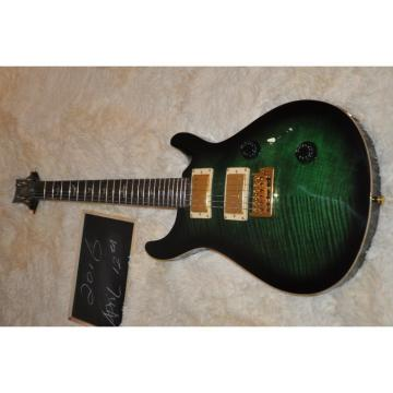 Custom Shop PRS Green Burst Flame Maple Top Electric Guitar