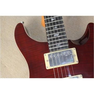 Custom Shop PRS Burgundy Flame Maple Top 24 Frets Electric Guitar