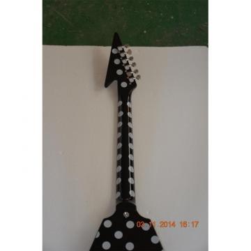 Custom Shop Polka Dots Flying V Electric Guitar GMW