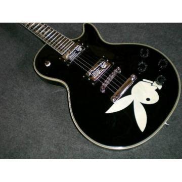 Custom Shop Playboy Inlay With Rabbit Print Black Electric Guitar