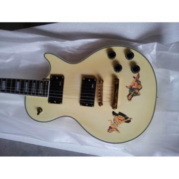 Custom Shop Playboy Cartoon Cream Electric Guitar