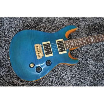 Custom Shop Ocean Blue Paul Reed Smith Electric Guitar Custom Inlay Mother of Pearl