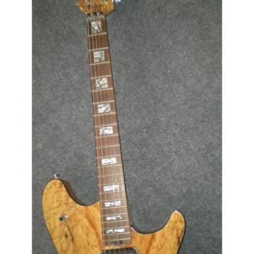 Custom Shop Natural Wood Floyd Rose Vibrato Electric Guitar