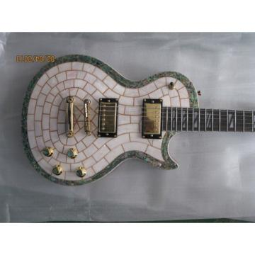Custom Shop Mother of Pearl Abalone Top Japan Parts Electric Guitar MOP