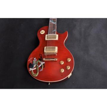 Custom Shop LP Snakepit Slash Red Electric Guitar
