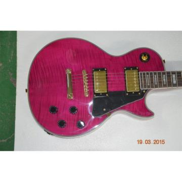 Custom Shop LP Pink Maple Top Standard Electric Guitar