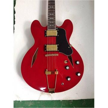 Custom Shop LP Dave Grohl Red DG335 Tailpiece Electric Guitar