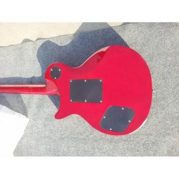 Custom Shop LP Floyd Vibrato Red Tiger Maple Top Electric Guitar