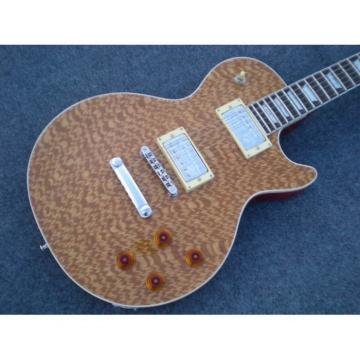 Custom Shop LP Natural Brown Maple Top Electric Guitar