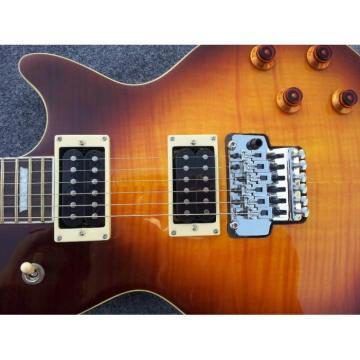 Custom Shop LP Floyd Vibrato Iced Tea Tiger Maple Top  Electric Guitar
