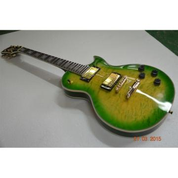 Custom Shop LP Apple Green Quilted Maple Top Standard Electric Guitar