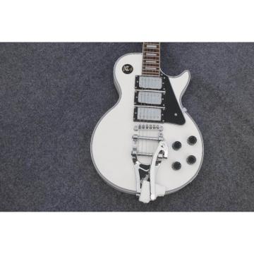 Custom Shop LP 3 Pickups White Bigsby Electric Guitar