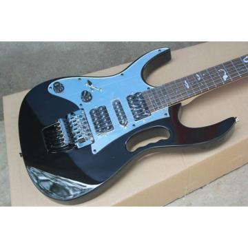 Custom Shop Left Handed Ibanez Jem7v Black Electric Guitar