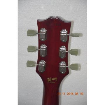 Custom Shop Left Handed Tiger Maple Top Burgundy Electric Guitar