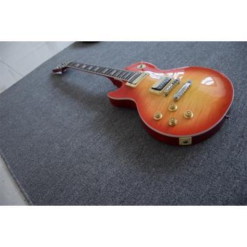 Custom Shop Left Handed Cherry Burst Flame Maple Top Electric Guitar