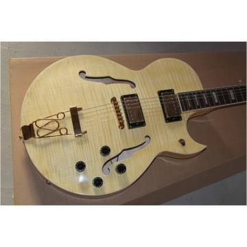 Custom Shop L5 Super CES Natural Maple Top Electric Guitar