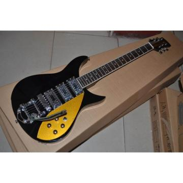 Custom Shop John Lennon Inspired 325 Black Electric Guitar Gold Pickguard