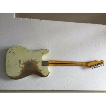 Custom Shop Jeff Beck Relic White Old Aged Telecaster Electric Guitar