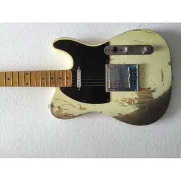 Custom Shop Jeff Beck Relic Classic Old Aged Telecaster Electric Guitar