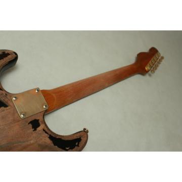 Custom Shop Jeff Beck Relic Black Vintage Old Aged Electric Guitar
