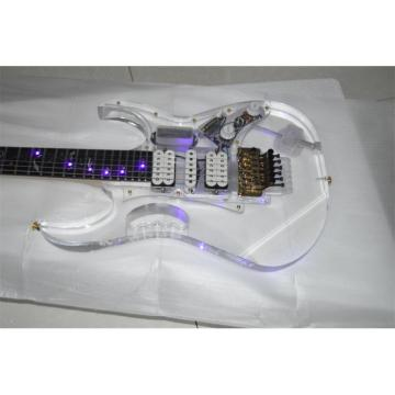Custom Shop Ibanez Acrylic Purple LED Light Electric Guitar