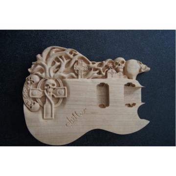Custom Shop Hand Crafted Skull SG Vintage Carved Electric Guitar